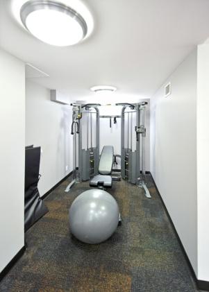 Dedicated strength machine alcove.